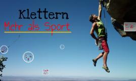 Copy of Klettern - Mehr als Sport