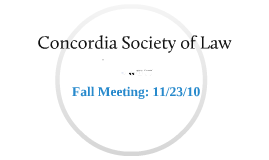 Concordia Society of Law