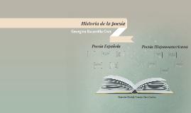 Historia de la poesía española e hispanoamericana