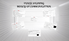 SPEECH MODELS OF COMM
