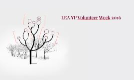 LEA YP Volunteer Week 2016