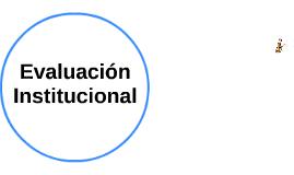 Evalución Institucional