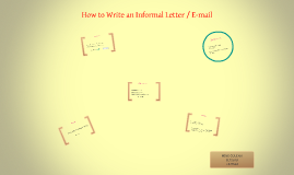 Copy of How to Write an Informal Letter / E-mail