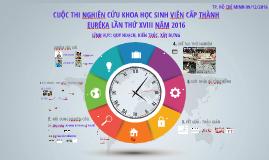CHUNG KẾT EURÉKA 2016 - GVHD: TS VŨ HỒNG NGHIỆP.