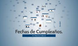 Calendario de Cumpleaños 2°C