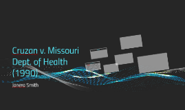 Cruzan v. Missouri Dept. of Health