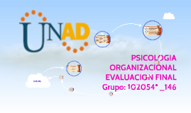 PSICOLOGIA ORGANIZACIONAL EVALUACION FINAL