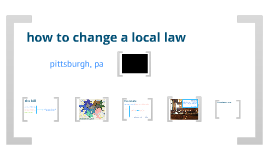 how to change a local law
