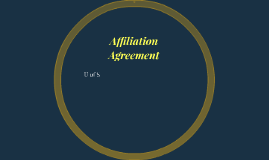 Affiliation Agreement