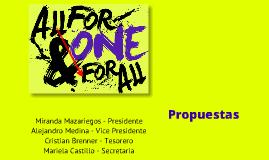 ONE - SGA 2012 -2013 Propuestas
