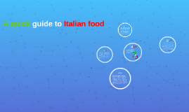A quick guide to italian food