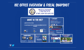 IOC OFFICE OVERVIEW & FISCAL SNAPSHOT