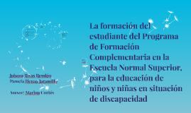 La formación del estudiante del Programa de Formación Comple