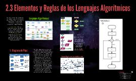 2.3 Elementos y Reglas de los Lenguajes Algorítmicos