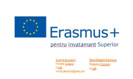 Prezentare programul ERASMUS+ 2015 - Ramona & Mirela