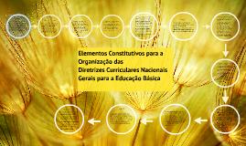 Copy of Elementos Constitutivos para a Organização das