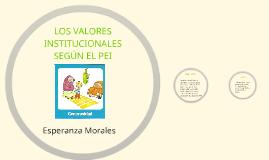 LOS VALORES INSTITUCIONALES SEGUN EL PEI