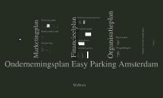 Ondernemingsplan Easy Parking Amsterdam