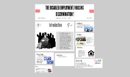 EMPLOYMENT / HOUSING DISCRIMINATION