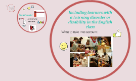 Including learners with learning disorders
