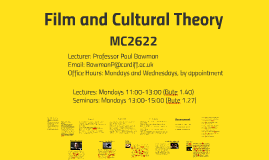 Film and Cultural Theory Overview