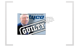 Tyco International Fraudulent Phase