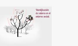 Copy of Identificación de valores en el entorno social.