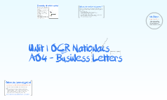 UNIT 1 OCR Nationals AO4 mailmerging
