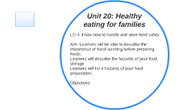 Unit 20: Healthy eating for families