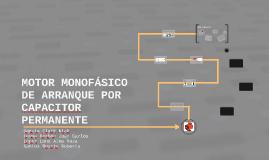 MOTOR MONOFÁSICO CON MARCHA POR CAPACITOR PERMANENTE