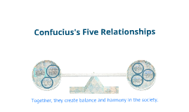 Confucianism 5 main relationships dating