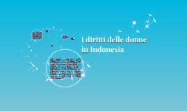 i diritti delle donne Indonesia