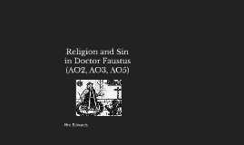 Religion and Sin in Doctor Faustus