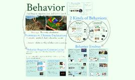 AP Bio - Ecology 1: Behavior