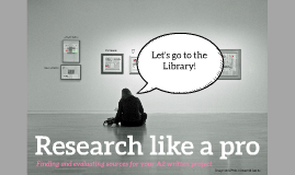 Research like a Pro - Art A2 project research skills