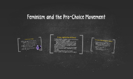 Feminism and the Pro-Choice Movement