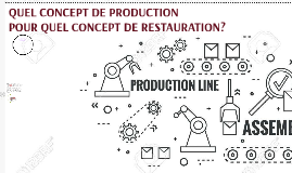 QUEL CONCEPT DE PRODUCTION POUR QUEL CONCEPT DE RESTAURATION