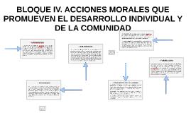 BLOQUE IV. ACCIONES MORALES QUE PROMUEVEN EL DESARROLLO INDIVIDUAL Y DE LA COMUNIDAD. TERCERA PARTE