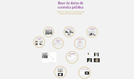 Base de datos de consulta pública