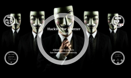 Copy of Hacking for bettering of society