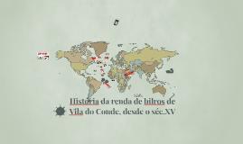 História das rendas de bilros de Vila do Conde desde o sec.X