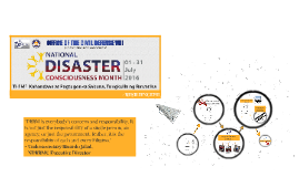 NATIONAL DISASTER CONSCIOUSNESS MONTH