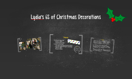 Lydia's 6S of Christmas Decorations