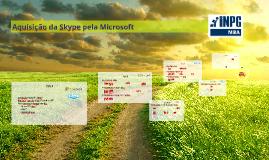 Aquisição da Skype pela Microsoft