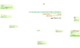 ACCELERATED POSSESSION PROCEEDINGS