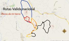 """Rutas Valida nacional """"Flores de mi tierra"""""""