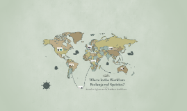 Where in the world are Endangered Speicies