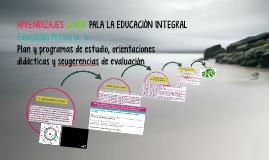 APRENDIZAJES CLAVE PALA LA EDUCACIÓN INTEGRAL