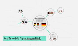 Day of German Unity (Tag der Deutschen Einheit)