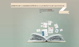 Copy of APORTES DE LA SOCIOLINGÜÍSTICA A LA ENSEÑANZA DE LAS LENGUAS